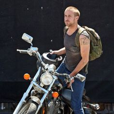 Ryan Gosling is one of the hottest guys in Hollywood right now, so of course he'd have a motorcycle. But unlike his fellow actors and riders Gosling rides a Honda Shadow, not a Harley or Triumph.