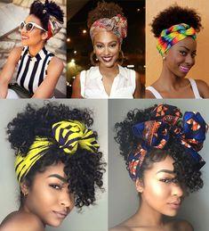 penteado para cabelo cacheado com bandana Haircuts For Curly Hair, Bandana Hairstyles, Curly Hair Cuts, Short Curly Hair, Afro Hairstyles, Curly Hair Styles, Natural Hair Styles, Hair Wrap Scarf, Hair Scarf Styles