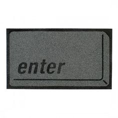 Enter Doormat - List of Geeky Items for the Home LED table, Geeky clocks, Periodic table fridge magnets Tyres Recycle, Funny Doormats, Home Computer, Recycled Rubber, Carpet Design, Rugs On Carpet, Geek Stuff, Cool Stuff, Creative