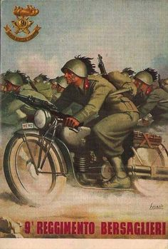 Italian Fascist poster with Futurist inspiration. The Futurist artistic movement was all about speed. Military Art, Military History, Victory In Europe Day, Ww2 Propaganda, Rome Antique, Ww2 Posters, Italian Posters, Italian Army, Roman History