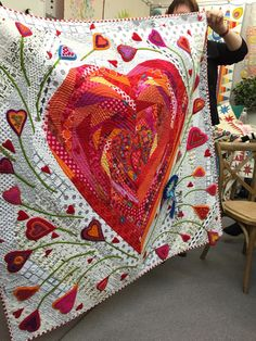Pieces of my Heart quilt by Wendy Williams.  Photo by PatchworknPlay: Workshop With Wendy Williams