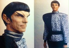 Marc Alaino tests the new TNG Romulan look. He later appeared as the show's first Cardassian in 1991's The Wounded. This led to his casting as Gul Ducat on DS9.
