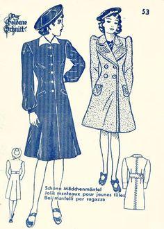 Lutterloh 1938 Book Of Cards -  Models Card 53
