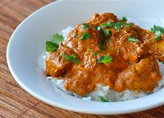 My new favorite Chicken Tikka Masala recipe. Delicious and easy - serve with basmati rice and nann bread. I substituted ground mustard for the tumeric and half and half for the greek yogurt (since I didn't have those ingredients on hand) and reduced the cayenne to 1/8 tsp (my family is sensitive to spice) - it was fabulous!