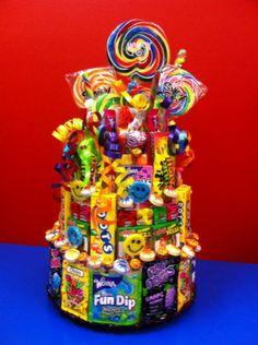 Basketworks candy cake