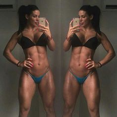 Aná cozar #fitnessgirl #ifbb #españa #abs #perfect #femalemuscle #6pack