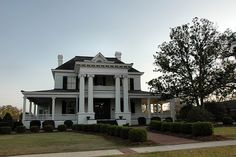 Camilla GA Baker County Neoclassical Greek Revival House Mansion Landmark Pictures Photo Copyright Brian Brown Vanishing South Georgia USA. James Price & Jeanette Wade McRee 1906