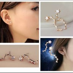 NEW 1 PAIR KOREAN STAR RHINESTONE EARRING STUD -BRAND NEW  -MATERIAL: ALLOY & RHINESTONE  -COLOR: GOLD     ⚠️⚠️⚠️⚠️⚠️NOTE: THE COLOR COMBINATIONS ARE MORE OR LESS THE SAME AS THE PICTURES BUT SOMETIMES MAY VARY SLIGHTLY FROM BATCH TO BATCH       ⭐RATED SELLER  FAST SHIPPER NEXT DAY SHIPPING  ❌NO TRADE ❌NO PAYPAL  ✅BUNDLE OFFER Jewelry Earrings