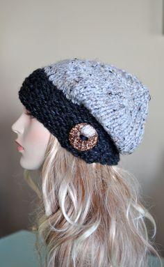 Slouchy Beanie sombrero flexible botón mano elegir por lucymir