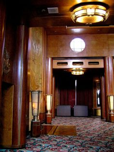 Queen Mary Promenade Deck - Cabin (1st Class) - Main Lounge.