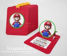 Scrapandome Con Los Recuerdos: Invitaciones de Mario & Luigi