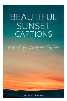 Need the perfect Instagram caption for that gorgeous sunset? Find the best sunset quotes to make a statement. #sunset #sunsetcaption #sunsetquote #quotesaboutsunset #instagramcaptions #sayingsaboutsunset Family Vacation Quotes, Travel With Friends Quotes, Best Travel Quotes, Family Travel, Sunset Captions For Instagram, Instagram Caption, Never Look Back Quotes, Long Distance Quotes, The Notebook