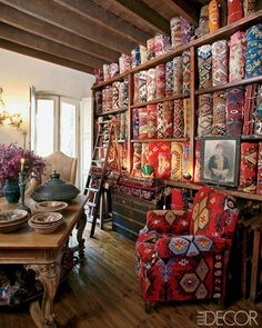 (A través de CASA REINAL) >>>>  Home furnishings at Alaturka, Istanbul • ELLE DECOR goes to Istanbul