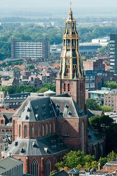 De Aa-kerk, Groningen, The Netherlands Netherlands Country, Holland Netherlands, City Landscape, Beautiful Architecture, Kirchen, Empire State Building, Belgium, Dutch, Beautiful Places