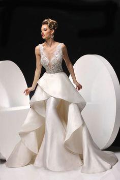 classy yet sexy Simone Carvalli Wedding Dresses
