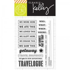 """Hero Arts Clearly Kelly New Adventures 3""""x4"""" Clear Stamp Set CL853"""