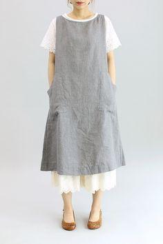 치마 속바지 - 레아린넨 Tunic Sewing Patterns, Clothing Patterns, Dress Patterns, Sewing Clothes, Diy Clothes, Clothes For Women, Sweet Dress, Linen Dresses, Timeless Fashion
