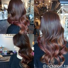 Strawberry rose,gold highlights with caramel tone ombre balayage.