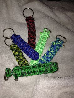 Paracord keychain 3-4 inches $3 each or 2 for $5