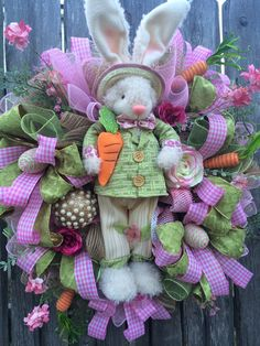 Easter Wreath Spring Wreath Bunny Wreath Easter by BaBamWreaths