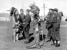 Two first nations chiefs pay a visit to Camp Niagara in Although most aboriginals were exempt from conscription through treaties, more than enlisted Native American History, Native American Indians, Native Americans, Code Talker, Indian People, Korean War, Native Indian, Great Shots, Vietnam War