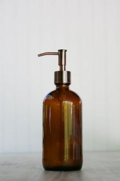 brown glass bathroom accessories. Amazon com  Market Amber Glass Soap Dispenser w Rustic Copper Pump Home Haven s Bath Kitchen soap set comes with beautiful recycled