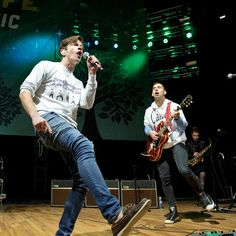 """Sweetlife Festival 4/28: Nate Ruess and Jack Antonoff of Fun. perform. The band's hit """"We Are Young"""" recently reached No. 1 on the U.S. Billboard Hot 100 chart.    Kyle Gustafson / For The Washington Post"""