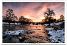 Wintery River Derwent Chatsworth