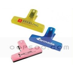 Cheap Logo Printed Multicolor Plastic Bag Clips - HC1501042805
