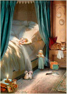 naptime, fairy-children, dears <3...   Art by Charlotte Bird...   http://www.fairyandangelart.co.uk/