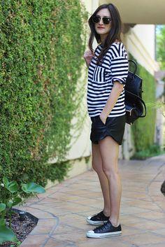 Black & white stripe fashion