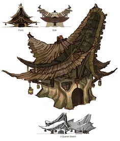 Reminds me of a floppy mushroom Bg Design, Prop Design, Game Design, 3d Modelle, Building Concept, Fantasy Landscape, Landscape Concept, Game Concept Art, Fantasy Setting