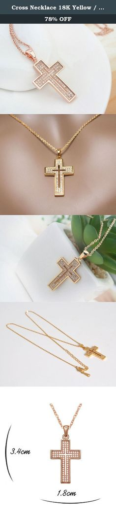 Cross Necklace 18K Yellow / Rose Gold Plated with CZ Gemstones, Christmas Gifts for Women / Girls, Best Holy Religious Christian Pendant Fashion Jewelry Presents - by Elegant Value (Rose Gold). Celebrate the season with this unique and elegant cross Pendant necklace. This high quality necklace with golden cross and sparking Zircon setting is perfect for all year long wearing. It would be a thoughtful gift; give one to someone you love, get another one for yourself. Select your favorite…