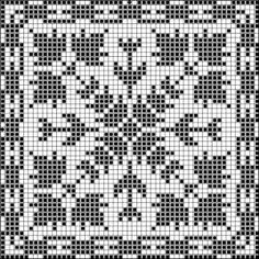 Square 19 | Free chart for cross-stitch, filet crochet | Chart for pattern - Gráfico