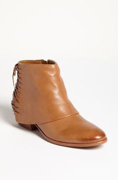 Free shipping and returns on Sam Edelman 'Princeton' Bootie at Nordstrom.com. Lithe laces race along the back of a chaps-inspired bootie, subtly burnished for a rustic finish.