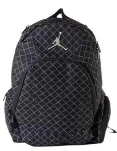 01f1cc6b7c1986 Air Jordan Jumpman 23 Nike Backpack Laptop Sleeve Black 9A1115 023  Jordan   Backpack Silver