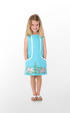 Lilly Pullitzer Spring 2012. Little Lilly.  http://www.lillypulitzer.com/product/Little-Lillys/Girls/Girls-Dresses/entity/pc/57/c/58/sc/130/2455.uts?swatchName=Shorely+Blue+The+Gangs+All+Here+Embroidery