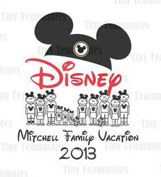 First Trip to Disney Family Vacation 2013 - Personalized For Your Family - Digital File -  Perfect for family T-shirts
