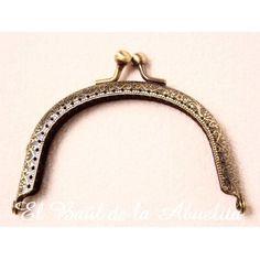 Boquilla labrada oro viejo 9,5 x 5,5cm (para coser)