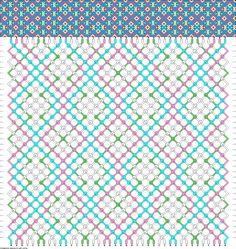 4 colors, 40 strings(8a; 8b; 16c; 8d), 36 rows #friendship #bracelet #pattern #wristband #handmade #craft #DIY #intertwined #dot #diamond Pattern#89796 by yemy