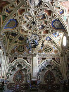Abandoned castle in Italy. Castello di Sammezzano, province of Florence, Tuscany region, Italy. 43°42′10.83″N 11°28′18.13″E