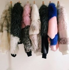 The Design Studio Faux Fur Bombers