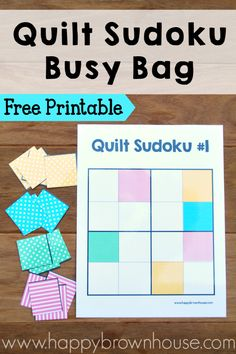 This free printable color sudoku game for kids is a great way to work on critical thinking skills. It makes an adorable mini quilt when finished.