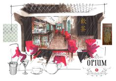Opium interior visual by Richard Chadwick