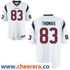 792d738daa0 Men's Houston Texans #83 Jordan Thomas White Road Stitched NFL Nike Game  Jersey