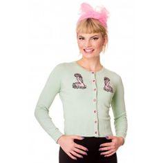 Cardigan Gilet Pin-Up Rétro 50's Rockabilly Flamant Nancy