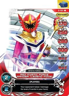 Red Mystic Force Power Ranger trading card