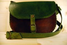 green/brown crossbody purseWomen Leather by upArt8 on Etsy