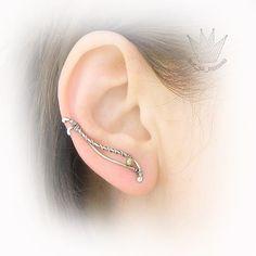 Beautiful, simple, and elegant: ear cuff and ear vine Stardust. Marina Mikhailik on Flickr