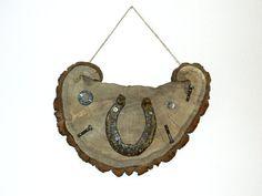 Decor HorseshoeHorse Year Wood decorWooden by WoodenDecorate, $37.50